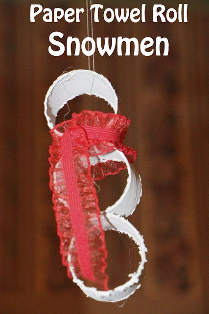 Paper Towel Roll Snowmen