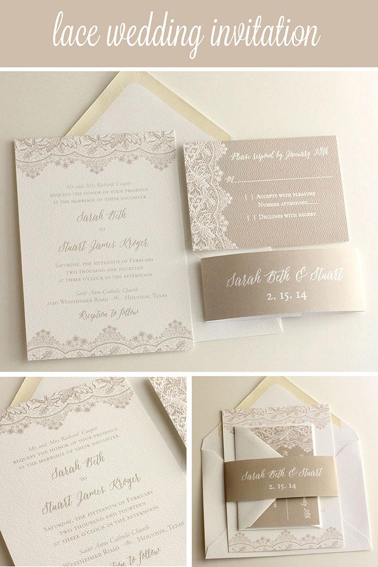 Lace Wedding Invitation | Blush Paperie