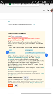 cara pasang domain freenom ke blogger blogspot