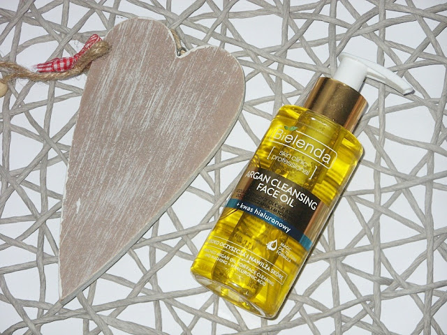Uszlachetniony olejek arganowy do oczyszczania i mycia twarzy z kwasem hialuronowym, Bielenda