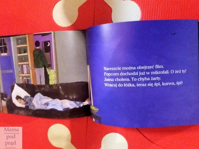 książka, rodzic, dziecko, zmęczenie, sen