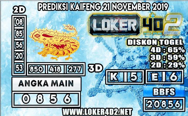 PREDIKSI TOGEL KAIFENG POOLS LOKER4D2 21 NOVEMBER 2019