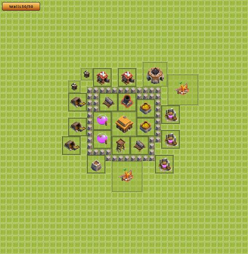 Clash of Clans Town Hall 3 Trophy Type