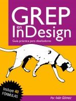 Portada libro GREP en InDesign por Iván Gómez