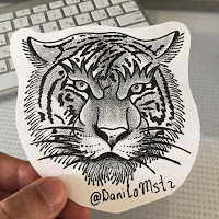 рисунок тигра в уфе