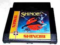 Imagen con el cartucho de NES del Shinobi de Tengen