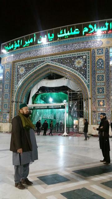 Iraq Karbala-Hazrat Allaamah Kaukab Noorani Okarvi visiting Karbalaa