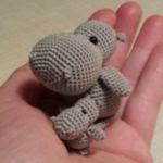 patron gratis hipopotamo amigurumi