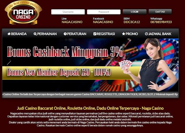 Situs Live Casino Online Terpercaya Naga Casino