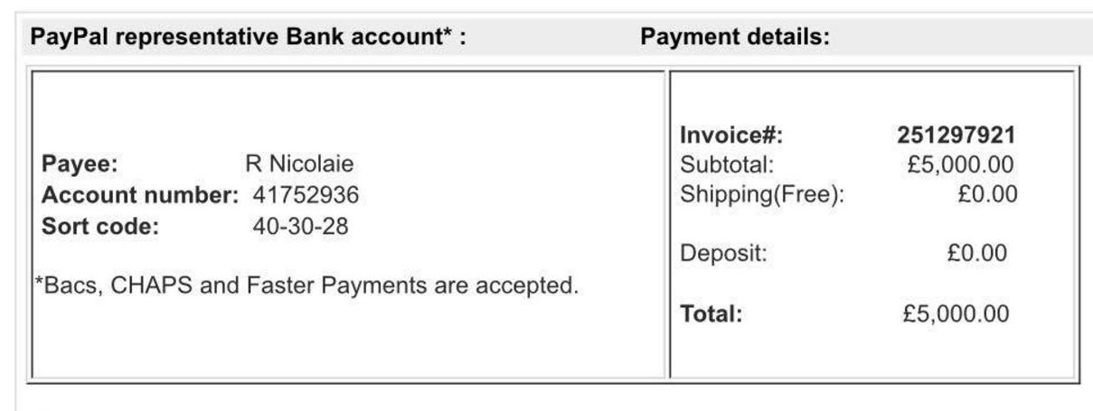Bacs Payment Hsbc