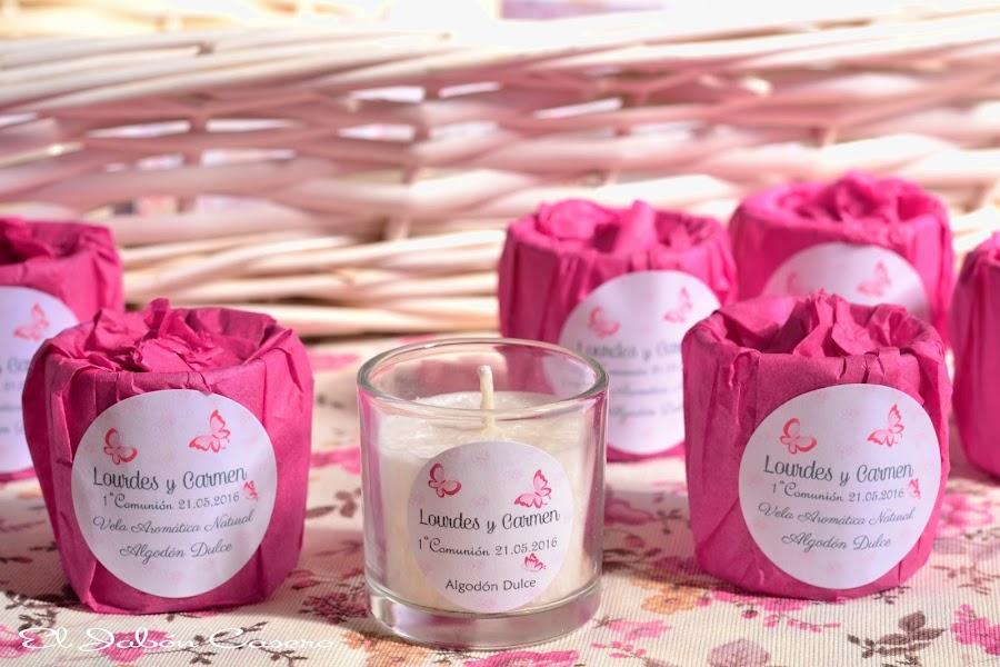Detalles para comuniones velas aromaticas