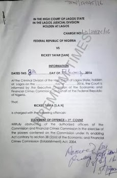 EFCC Slams Charges On Nigerian Senior Lawyer, Ricky Tarfa, 'For Obstruction Of Justice'