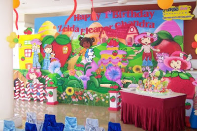 Dekorasi Backdrop background ultah anak (Kids Birthday)