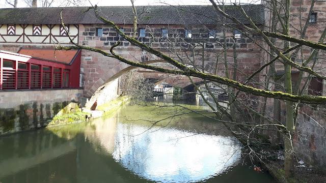 Bridge on the river in Nuremberg