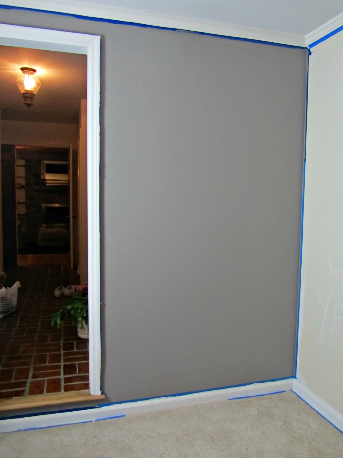 Our Haven Transformations  Modern Gray Living room with Behr Paint After  nice Behr Fashion Gray   yay