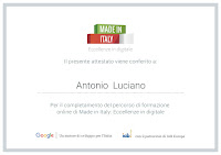 Google Made in Italy Eccellenze in digitale attestato certificazione