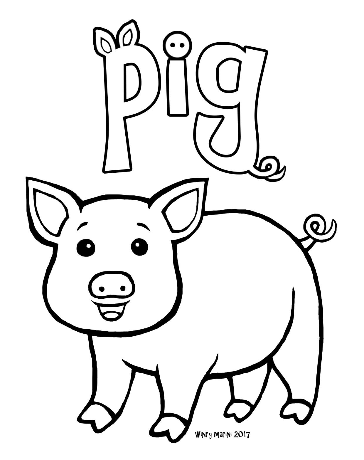 104 Gambar Mewarnai Hewan Babi HD Terbaik Gambar Hewan