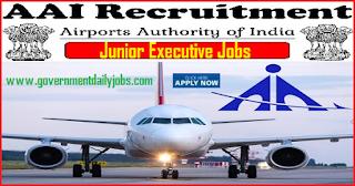 AAI Recruitment 2018 notification for 542 Junior Executive Vacancies