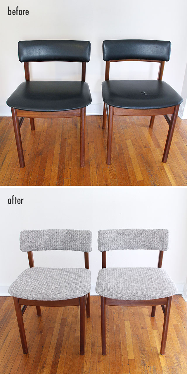 Before and After - A pair of chairs gets revamped