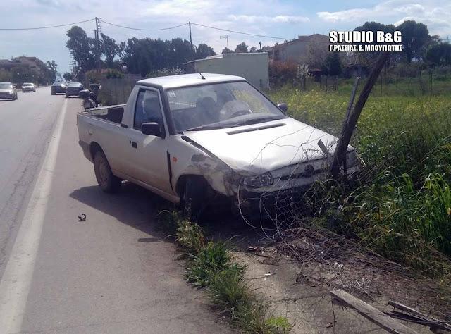 Αργολίδα: Τροχαίο ατύχημα με συγκρουση αυτοκινήτων στη Νέα Κίο
