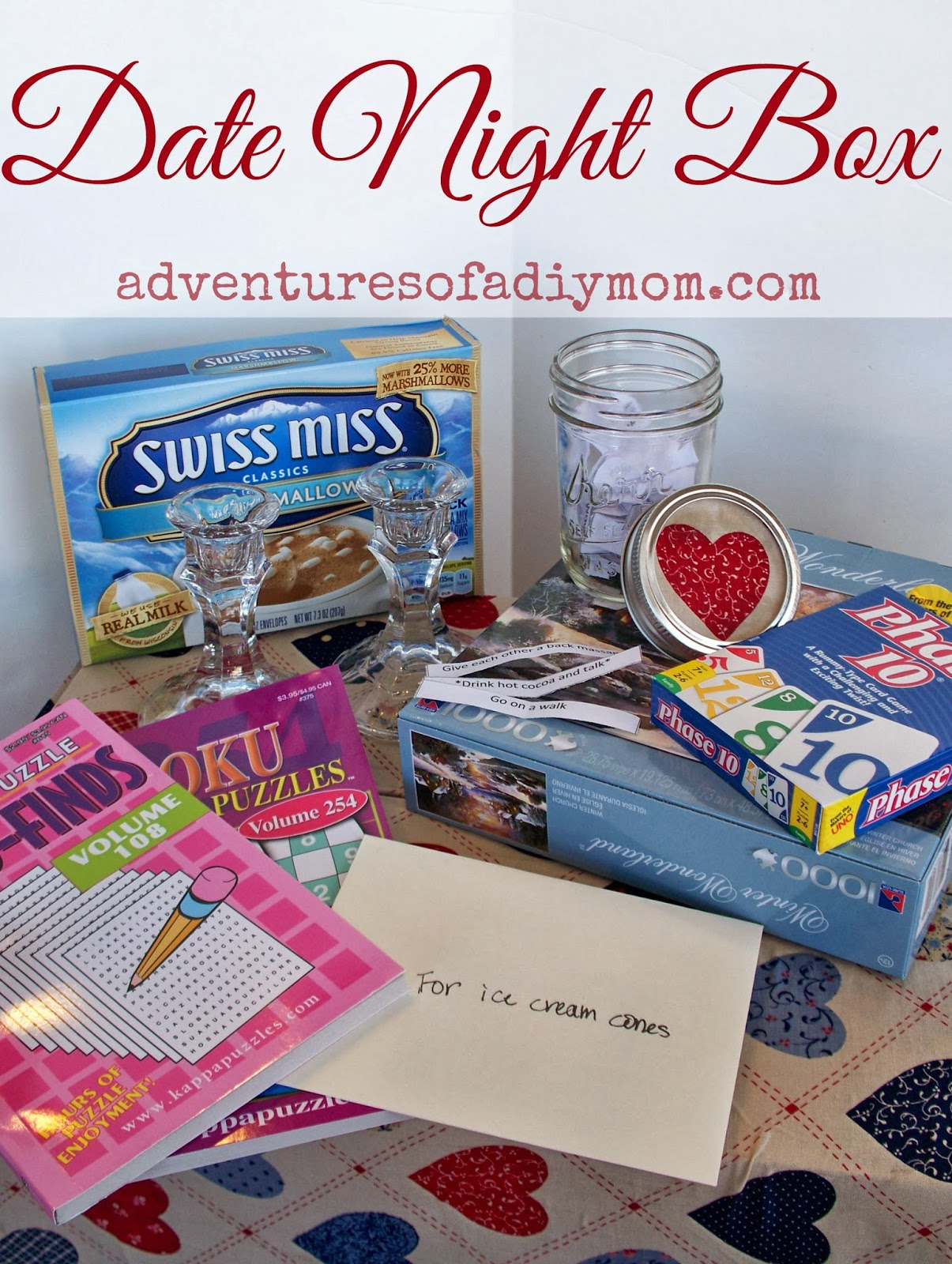 Date Night Box or Jar - Adventures of a DIY Mom