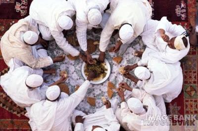 musulmanes comiendo
