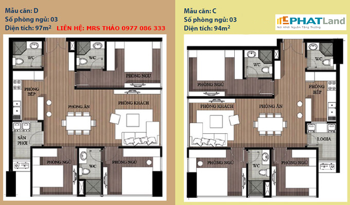 mẫu căn hộ 3 phòng ngủ tại chung cư artemis, ban chung cu artemis
