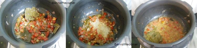 How to make Broken Wheat Biryani - Step 2