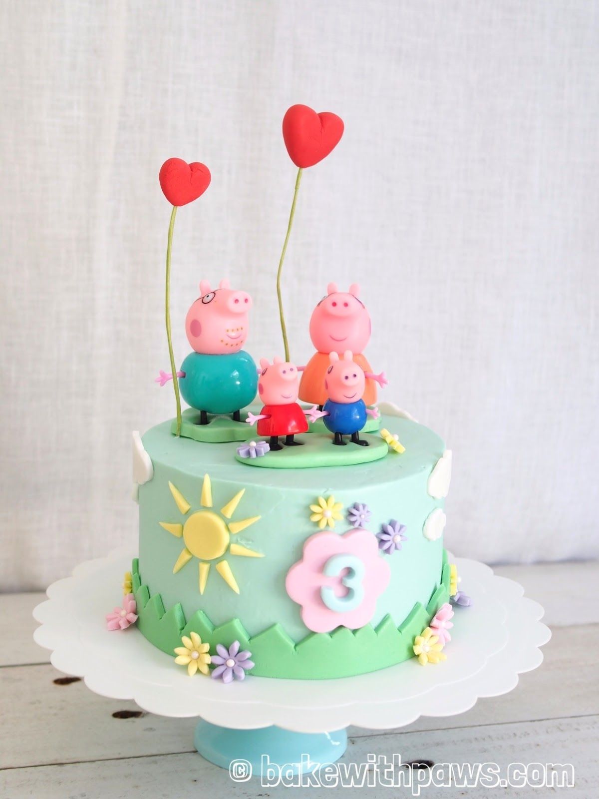 how to create a peppa pig cake