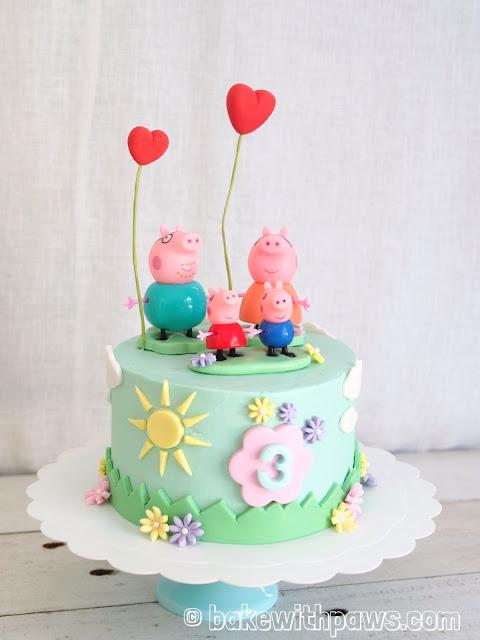 Peppa Pig Birthday Cake Bake With Paws