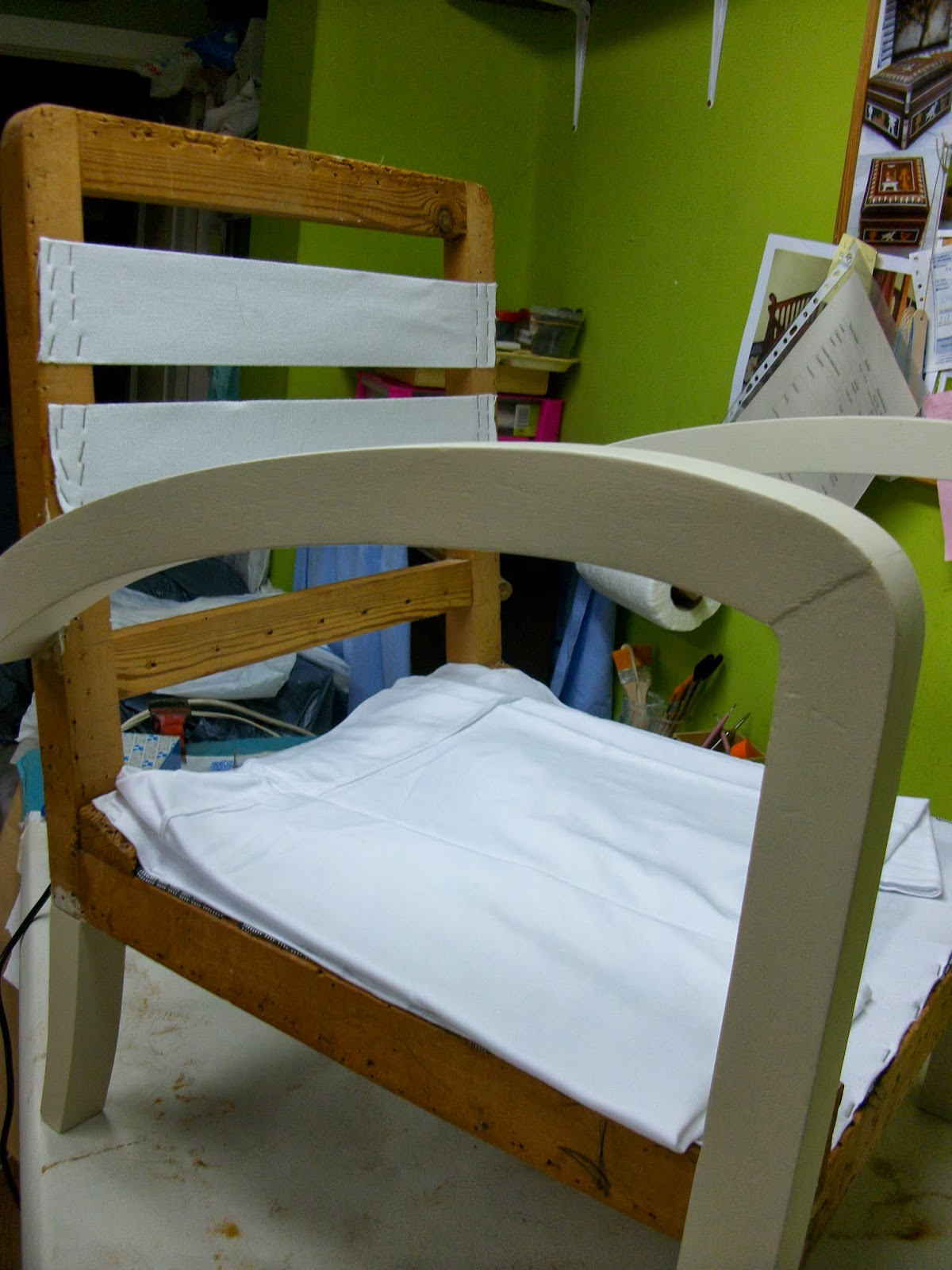 El blog de la restauradora restauraci n reciclado y tapizado de un sill n descalzadora estilo - Como tapizar una descalzadora ...