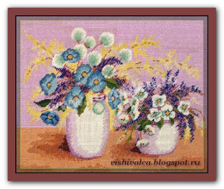 "Download embroidery scheme Rogoblen 7.07 ""Corn Flowers"""