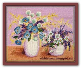 "Download embroidery scheme Rogoblen 7.07 ""Corn Flowers"""