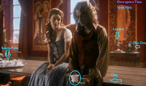 Guiños a La Bella y la bestia en la serie Érase una vez, imagen de la web Onceuponatimespanish - Cine de Escritor
