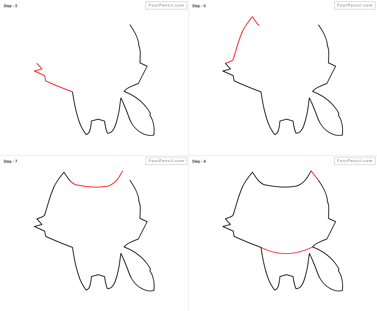 How To Draw A Kit Fox Step By Step