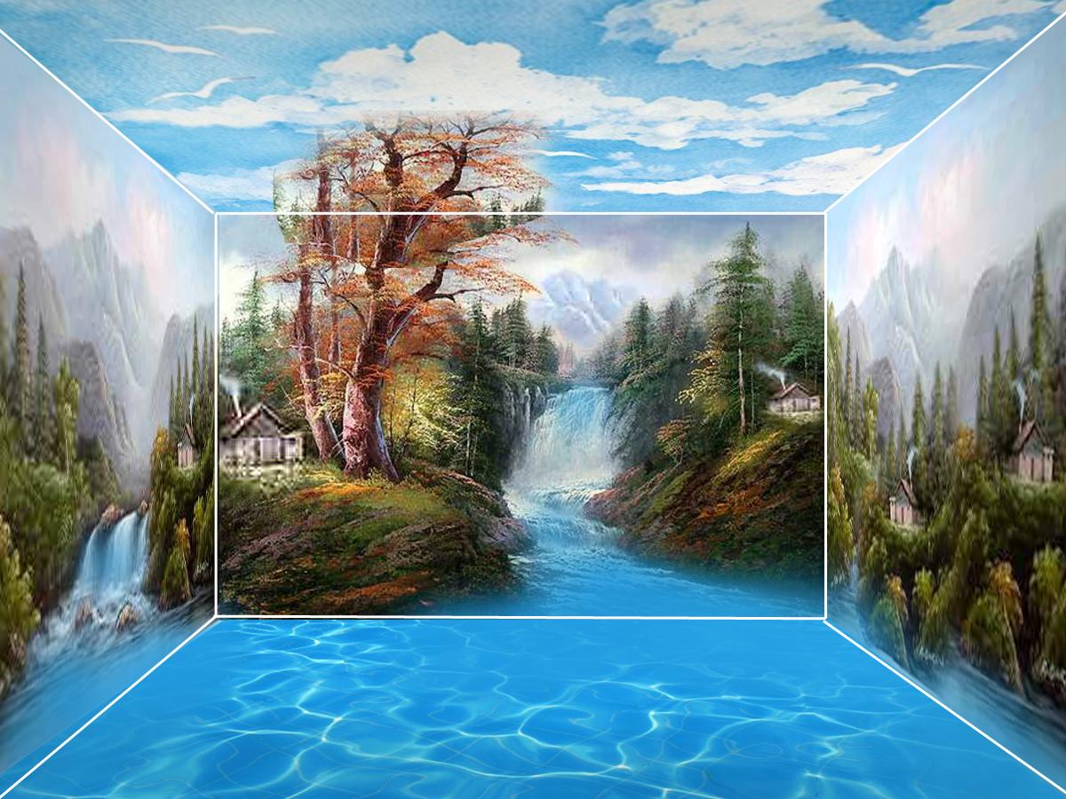 Gambar 50 Gambar Sketsa Lukisan Pemandangan Alam Hitam