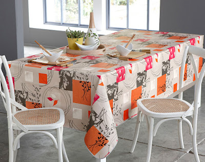 nappe orange pour table
