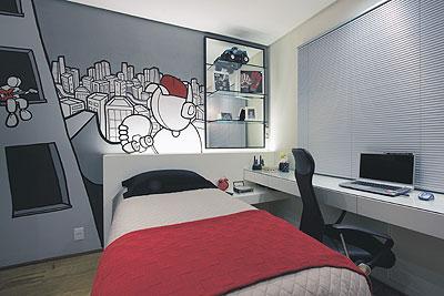 Dormitorio peque o juvenil dormitorio juvenil para - Decoracion habitacion juvenil masculina ...