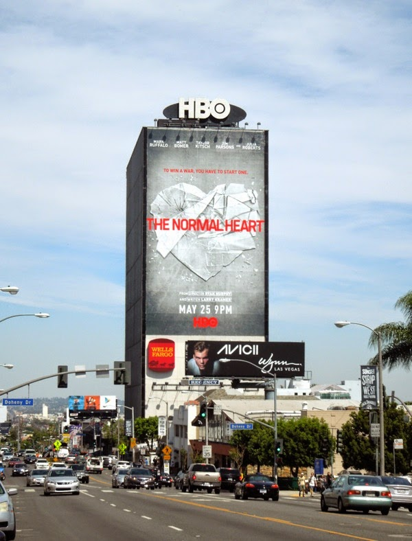 Normal Heart giant movie billboard Sunset Strip