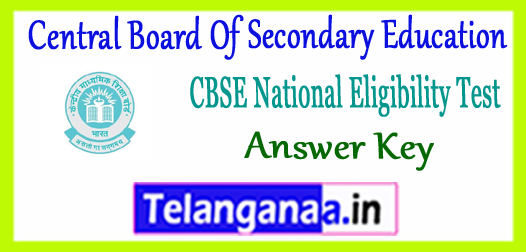 CBSE NET Central Board Of Secondary Education National Eligibility Test Paper 1 2 3 Answer Key 2017