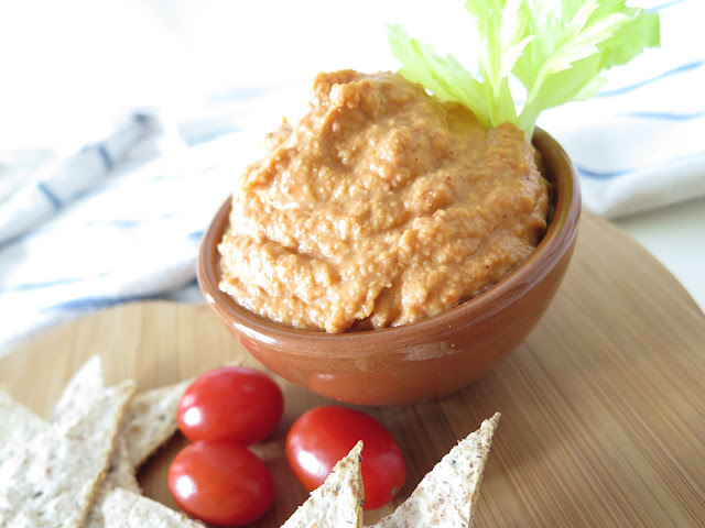 red pepper houmous, Michelle Louise Love, vegan houmous