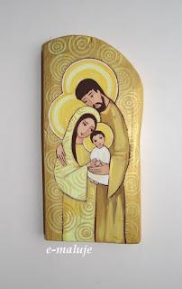 Słoneczna Święta Rodzina … Ikona Autorska Modlitwą Pisana
