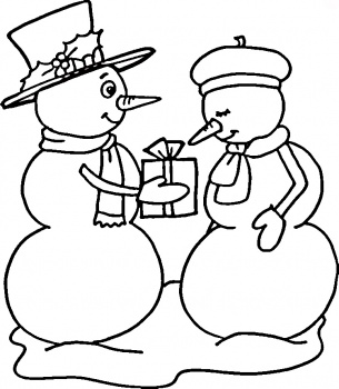 Movie Adaptations: Frosty the Snowman Coloring Page