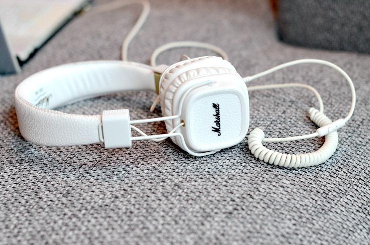 Marshall white headphones
