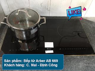 Hình ảnh thực tế: Bếp từ Arber AB 669