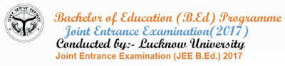 UP BEd Online Form 2017 www.upbed.nic.in