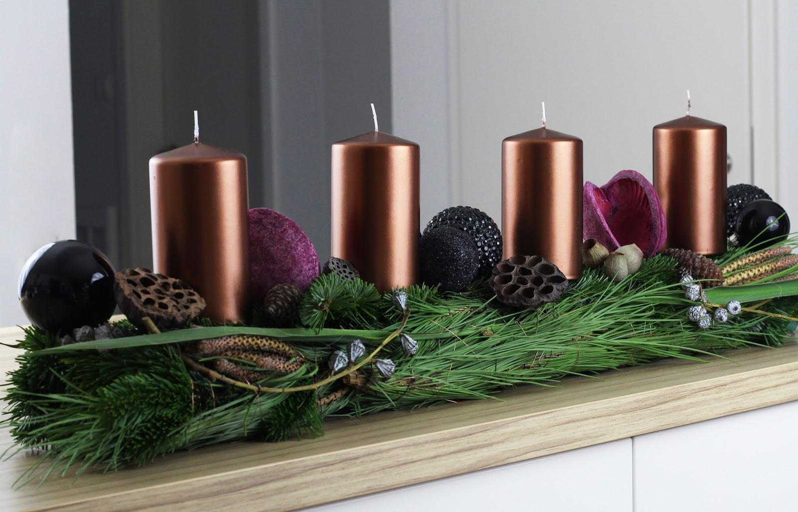 ideenanstoss das adventsgesteck diy. Black Bedroom Furniture Sets. Home Design Ideas