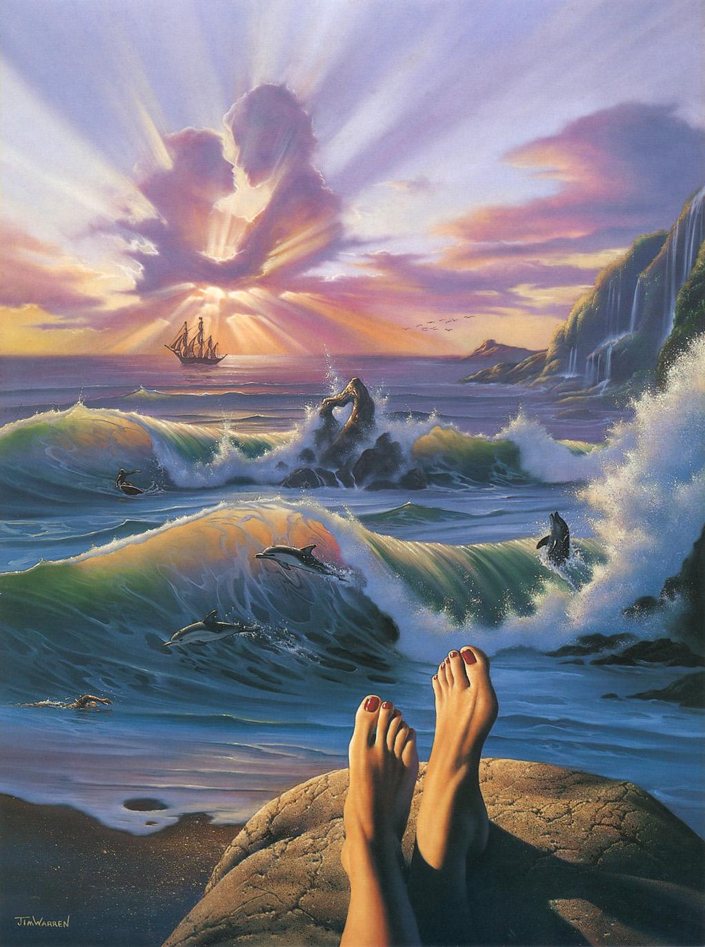 Jim Warren   Surreal art painting, Surreal art, Surealism art