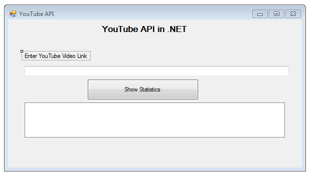 Singh Vikash blog: YouTube API with  NETHow to read Single Video