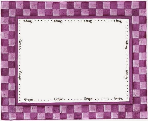 Cuadrícula de Colores: Marcos, Bordes o Etiquetas para Imprimir Gratis.
